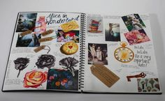 Alice in Wonderland sketchbook work A Level Art Sketchbook, Sketchbook Layout, Sketchbook Pages, Sketchbook Inspiration, Sketchbook Ideas, Textiles Sketchbook, Photography Sketchbook, Art Diary, Visual Diary