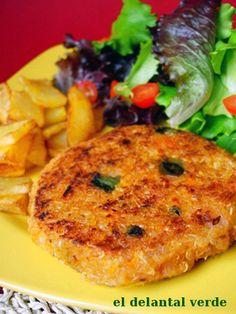 hamburguesa de quinoa - El delantal verde.