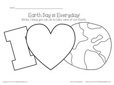 FREE Earth Day Preschool Handwriting Practice Handwriting