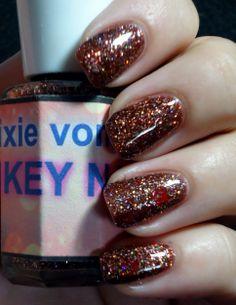 pixie vomit a brown jelly with holo glitters