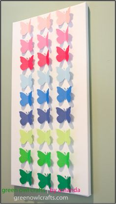 Paper Butterfly Sepcimens { easy spring craft }--When I get my cricut!