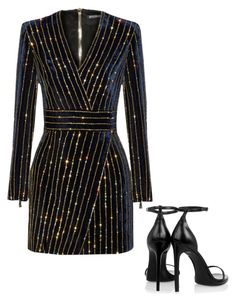 """Rock with me"" by jerrilyn-supermommy-townsend-dixon on Polyvore featuring Balmain and Yves Saint Laurent"
