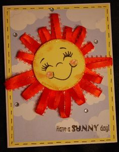 Practical Scrappers: Blog Hop Day Four: Sunshine Projects I like the ribbon idea...