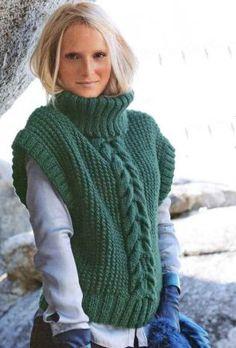 Зелёный пуловер