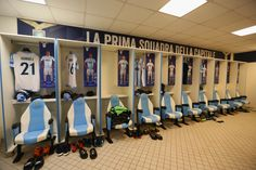 A general view of the SS Lazio dressing room before the UEFA Europa League quarter final leg one match between SS Lazio and RB Salzburg at Stadio Olimpico on April 5, 2018 in Rome, Italy. - 19 of 120