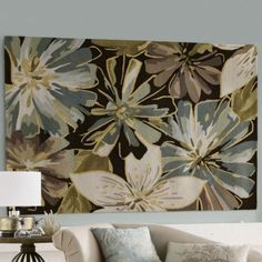 Rug Hand-Hooked Watercolor Floral  Country Door  $249.99  For Master Bedroom