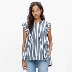 Garden Top in Indigo Stripe : blouses | Madewell