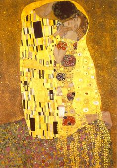 Klimt, Gustav 'The Kiss'. One of my favourite paintings!