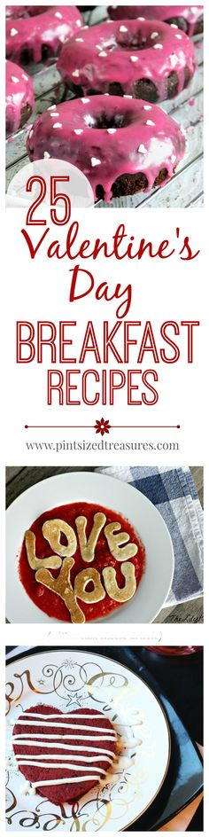 Looking for an awesome breakfast recipe for Valentine's Day? Check out these gorgeous Valentine's Day breakfast recipes that will make you and your Valentine's breakfast even more special. Valentines Day Food, Valentines Breakfast, Valentine Treats, Holiday Treats, Holiday Recipes, Valentine Recipes, Best Breakfast Recipes, Breakfast Ideas, Kid Breakfast