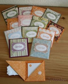 small folded cards