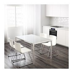 IKEA - TORSBY, Table, The table top made of tempered glass is easy to clean and more durable than ordinary glass.Seats 4.