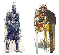 Sardaukars designs by Moebius for Alejandro Jodorowsky's adaptation of Dune