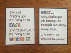 This pin provides a variety of posters and motivational quotes to be put around the room to create a positive and hardworking environment so the students never give up. #safe #trusting