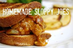 a simple real food recipe :: sloppy joes :: grain free options