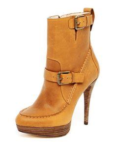 KORS Michael Kors Creston Leather Platform Boot - Neiman Marcus