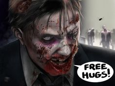 Huggable zombie. I love zombies with a sense of humour!