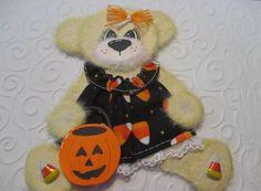 Halloween Girl Tear Bear Paper Piecing Baby Scrapbooking Embellishment Mulberry #Scrapbooking