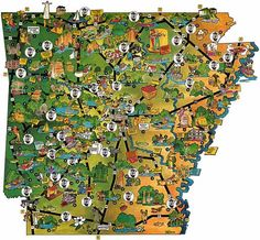 101 Fun Things to See and Do in Arkansas. This link takes you to this map which you click on the region of our state you will be visiting and it gives you a list of cool and fun things for families to do in that area!