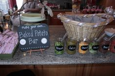[ Graduation Ideas Parties Ideas Pixel Baked Potato Bar ] - Best Free Home Design Idea & Inspiration Teacher Luncheon Ideas, Baked Potato Bar, My Bridal Shower, Baby Shower, Super Bowl, Bar Displays, No Bake Bars, Food Stations, Catering