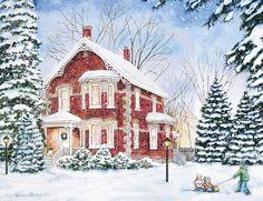 Evening Solitude Boxed Christmas Card , 1004740 | Lang