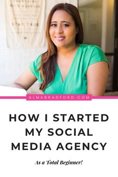 I started my social media agency as a stay at home Mom to have more time with my family. Learn how you can start a profitable social media management business even as a beginner! #socialmedia #workfromhome