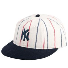 New York Yankees - 1916 Logo MLB 400 Adult Flat Brim Snapback Cap