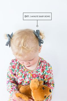 DIY No Sew Baby Bow from Bias Tape (in 2 Minutes)
