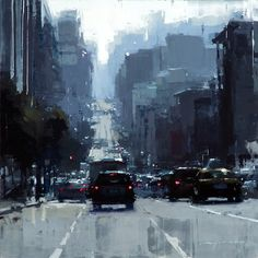 """Midday on Bush Street"", Jeremy Mann"