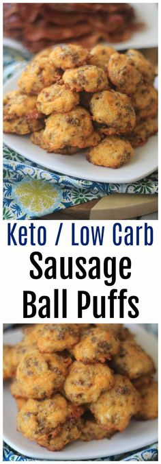 This Keto Sausage Ball Recipe is a perfect low carb appetizer that comes together in minutes! Keto dieters will love this for breakfast or as a snack.