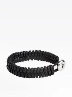bracelet masy noir en cuir | agnès b. Bracelets, Jewelry, Fashion, Leather, Moda, Jewlery, Jewerly, Fashion Styles, Schmuck