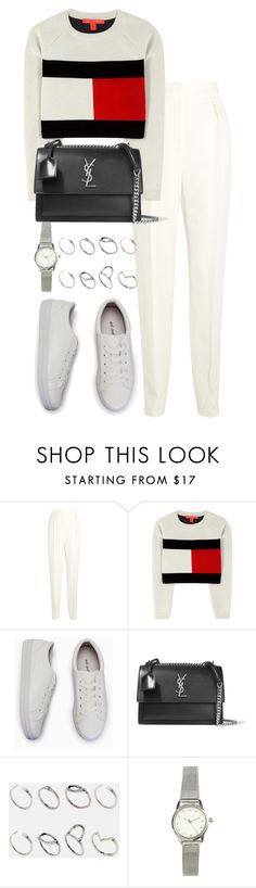 """Untitled #2561"" by theeuropeancloset ❤ liked on Polyvore featuring Lanvin, Tommy Hilfiger, Yves Saint Laurent, ASOS and H&M"