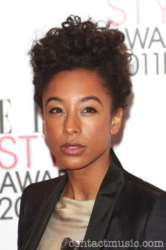 Natural Belle: Corinne Bailey Rae: curly updo