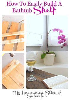 How to easily build a bathtub shelf