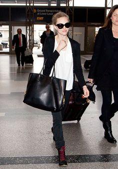 Amanda Seyfried airport style