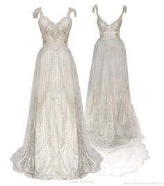 Couture Bridal Gowns by Claire Pettibone - Aislinn Events Claire Pettibone, 2015 Wedding Dresses, Wedding Gowns, Wedding Blog, Lace Wedding, Bridal Lace, Dresses Uk, Ball Dresses, Bridal Collection