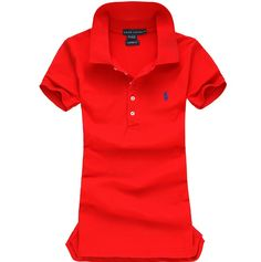 Ralph Lauren Pony Polo For Women In Red Outlet Online