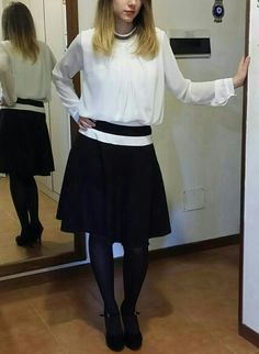fashion, winter, chic, elegant, casual, circle skirt, white,brown