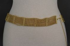 Gold / Silver Wide Metal Chain Links Balls HIp High Waist Belt New Women Fashion Accessories Size S M