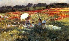 In the Fields around London Giuseppe de Nittis - Date unknown