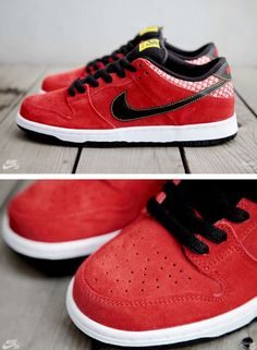 """THE SNEAKER ADDICT: Nike SB Dunk Low """"Firecracker"""" Sneaker Pack (New Detailed Images)"""