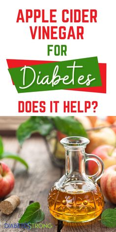 "Apple cider vinegar — also known as ""ACV"" — is a trendy ingredient these days. But, does is really help for diabetes? In this article, we'll discuss the general benefits of apple cider vinegar, what research has determined about its impact on blood sugar levels, precautions to take when adding it to your diet, and who shouldn't consume apple cider vinegar regularly at all. #applecidervinegar #acv #diabetes #diabetestips #healthtips #diabetesstrong"
