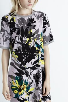 All | Multi Placement Floral Shift Dress | Warehouse