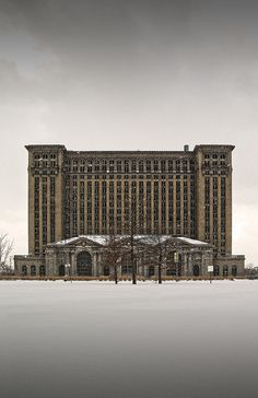 Abandoned Michigan Central Railroad Station, Detroit, MI. It was so very beautiful....I can remember the long, long ride into the city from our farm. My Dad would put me on the train to go visit family in Indiana. What a sight to take in for a little farm girl. I remember those huge ornate columns inside...it was a work of art...
