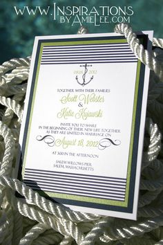 Nautical Wedding Invitations by InspirationsbyAmieLe on Etsy