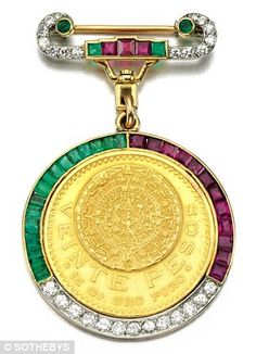 This jewelled medallion worn by Wallis Simpson