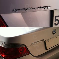 #Detailpart CAR Full Name Emblem For #BMW #DETAILKOREA