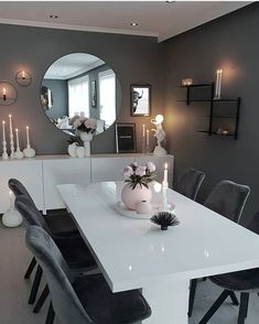 Dining room inspo 1 or Home Room Design, Dining Room Design, Home Interior Design, House Design, Luxury Dining Room, Design Design, Classy Living Room, Living Room Decor Cozy, Home Living Room
