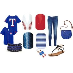 """""""Jamberry for the Rangers Game"""" by pattisjams on Polyvore"""