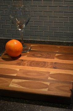 a nice large wooden cutting board.