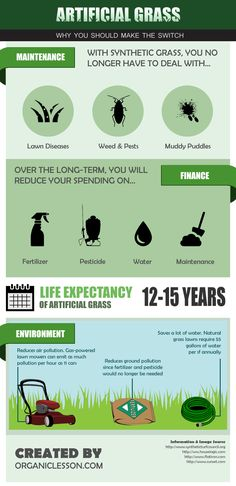 Artificial Synthetic Grass: Benefits & Costs Infographic Learn about an artificial lawn. Most artificial grass is completely safe for pets and children. Artificial Grass Installation, Artificial Turf, Small Backyard Patio, Backyard Landscaping, Landscaping Ideas, Backyard Ideas, Garden Ideas, Synthetic Lawn, Grass Stains